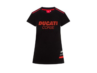 Corse Striped Lady T-Shirt schwarz/ror