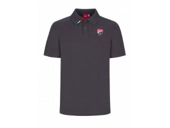 Polo mit Logo Anthrazit/Grau