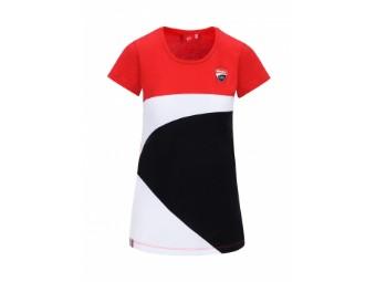 T-Shirt Corse Lady Rot/Schwarz/Weiß