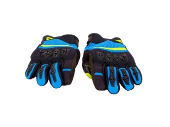 Aerox Unisex Handschuhe schwarz/blue/fluo-gelb