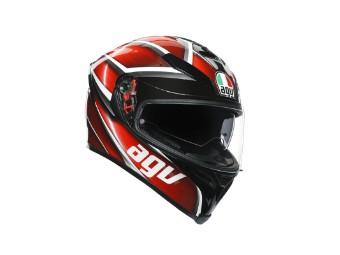 K5 S Tempest schwarz/rot Motorrad Helm