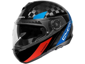 C4 Pro Carbon Klapp-Helm Avio Blue