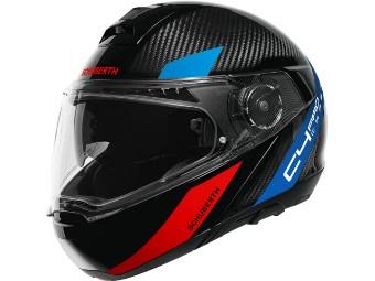 C4 Pro Carbon Avio Blue 3k Klapp-Helm