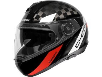 C4 Pro Carbon Klapp-Helm Avio Red