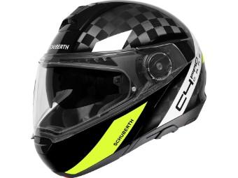 C4 Pro Carbon Klapp-Helm Avio Yellow