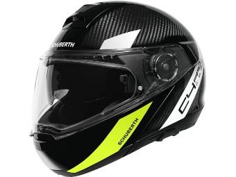 C4 Pro Carbon Avio Yellow 3k Klapp-Helm