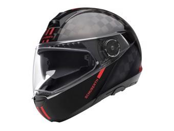C4 Pro Carbon Fusion Red Klapp-Helm