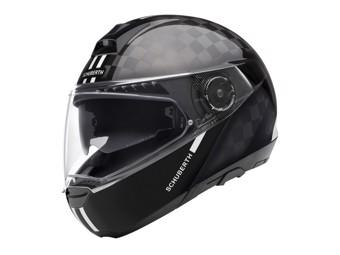 C4 Pro Carbon Fusion White Klapp-Helm