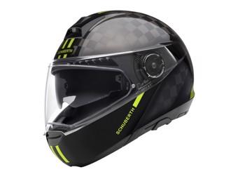 C4 Pro Carbon Fusion Yellow Klapp-Helm
