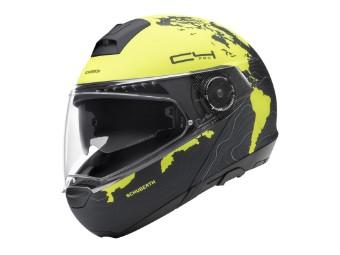 C4 Pro Klapp-Helm Magnitudo Yellow