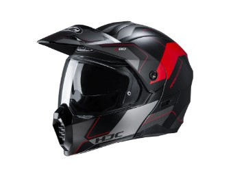 C80 Rox MC-1SF rot Adventure Klapp-Helm