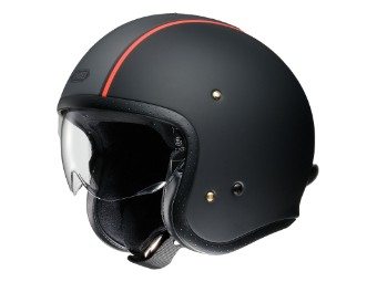 JO Carburettor TC-8 Jet-Helm schwarz/orange