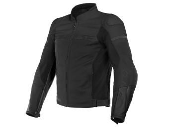 Agile Lederjacke schwarz/schwarz