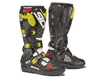 Crossfire 3 SRS Mx Offroad Stiefel weiß/schwarz/gelb-fluo