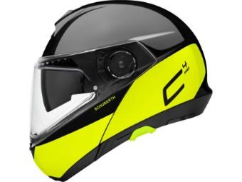C4 Pro Klapp-Helm Swipe Yellow