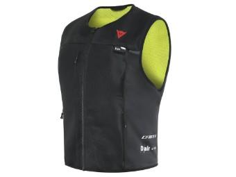 Dair Smart Jacket Lady Motorrad Airbag schwarz/neon-gelb