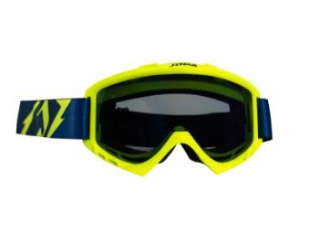 Poison MX Goggle Offroad Brille neon-gelb