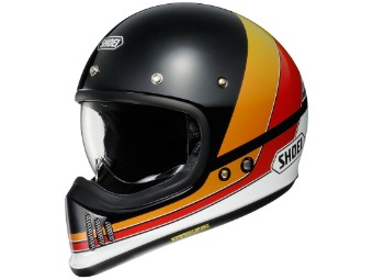 EX-Zero Equation TC-10 schwarz/rot/gelb Retro Helm