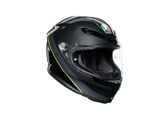 K6 Minimal Helm gunmetal/schwarz/neon-gelb