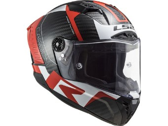 FF805 Thunder Racing1 Red White Carbon Helm