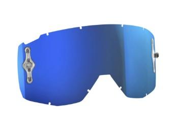 Single Lens Antifog Works Glas Scheibe Hustle/Split/Primal blau-chrome