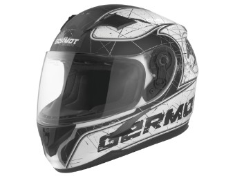 GM 420 Junior Kinder Helm matt-weiss/schwarz