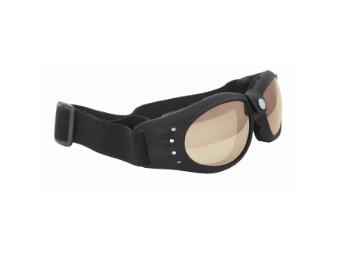 Motorradbrille 9910 mit getönten Gläsern und mit Gummiband