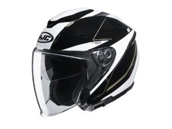 i30 Slight Jet-Helm MC-9 schwarz/weiss