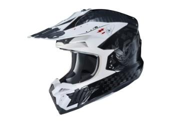 i50 Artax MC-5 schwarz/weiss MX-Helm