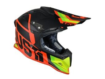 J12 Unit MX Helm rot/grün