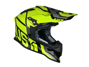 J12 Unit MX Helm gelb-fluo
