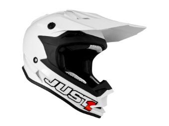 J32 Pro solid weiß MX Helm