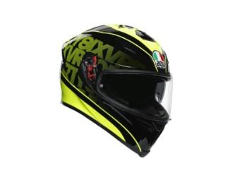 K5 S Fast 46 Schwarz/Neon-Gelb Motorrad Helm