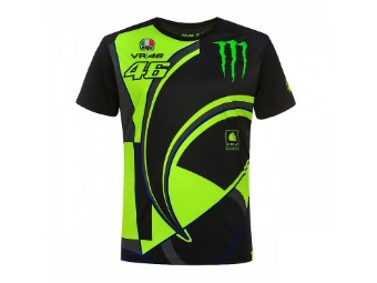 Monster 46 Replika T-Shirt schwarz/neon-gelb