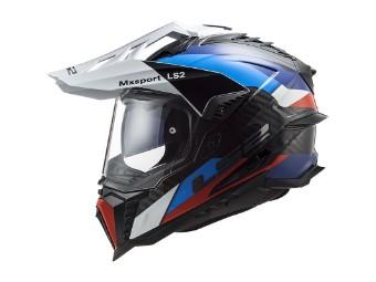 MX701 Explorer C Frontier Black Blue Carbon Adventure Helm