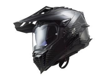 MX701 Explorer C Solid Carbon schwarz Adventure Helm