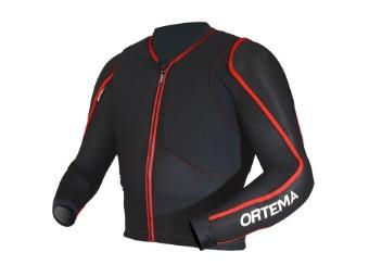 Ortho-Max Protektorjacke Protekor Jacke schwarz/rot