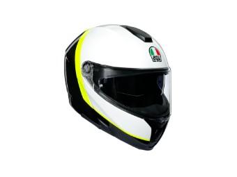 Sportmodular Ray Carbon Klapp-Helm carbon/weiss/gelb