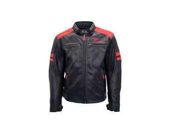 Jari Motorrad Leaderjacke navy/rot
