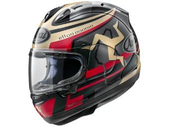 RX-7V Isle Of Man TT 2020 Edition Helm schwarz/rot/gold