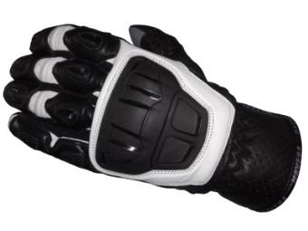 Slayer Handschuhe kurz schwarz/weiß