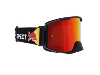 RedBull Spect Strive MX Goggle Brille red flash, brown with red mirror