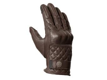 Tracker XTM Brown klassiche Motorrad Leder Handschuhe