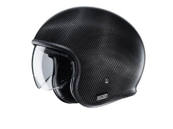 V30 Carbon Jet-Helm schwarz