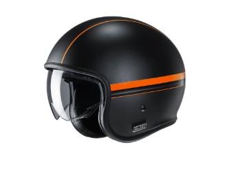 V30 Equinox MC-7SF Jet-Helm orange