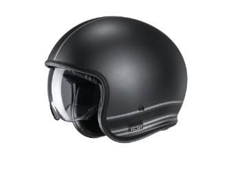 V30 Senti MC5SF Jet-Helm schwarz