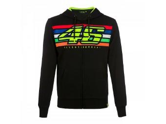 Sweatshirt 46 Stripes Full Zip Hoody Pullover schwarz
