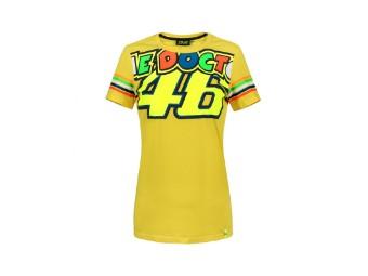 Stripes Damen T-Shirt Valentino Rossi gelb