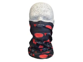 ZSF Dainese Halstuch Kopftuch Multifunktionstuch mit Logo schwarz/rot