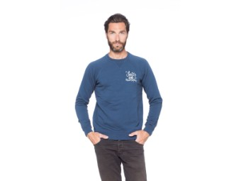 Faster Sons Pullover Sweater Script Sweater Yamaha blau